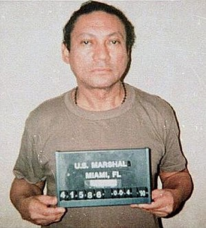 Drug lord - Manuel Noriega, following his arrest by U.S. authorities.