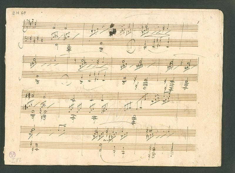 Manuscript of the Piano Sonata No. 14 in C-sharp minor Op.27-2 by Beethoven
