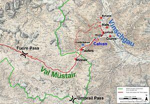 Battle of Calven - Map of the battle