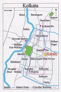 Entally Neighbourhood in Kolkata in West Bengal, India