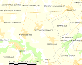 Mapa obce Theuville-aux-Maillots
