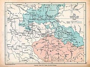 Kart over Sentral-Europa med fargede territorier