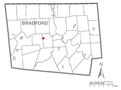 Map of Burlington, Bradford County, Pennsylvania Highlighted.png