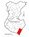 Map of Huntingdon County, Pennsylvania Highlighting Dublin Township.PNG