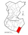 Map of Huntingdon County, Pennsylvania Highlighting Dublin Township.PNG