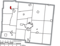 Map of Logan County Ohio Highlighting Lakeview Village.png