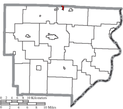 Location of Wilson in Monroe County