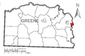 Map of Nemacolin, Greene County, Pennsylvania Highlighted.png