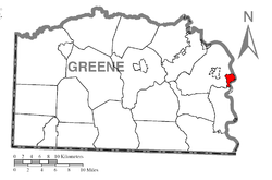 Location of Nemacolin in Greene County
