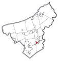 Map of Old Orchard, Northampton County, Pennsylvania Highlighted.png