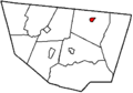 Map of Sullivan County Pennsylvania Highlighting Dushore.png