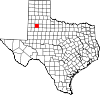 State map highlighting Lubbock County