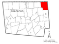 Map of Warren Township, Bradford County, Pennsylvania Highlighted.png