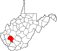 Map of West Virginia highlighting Boone County