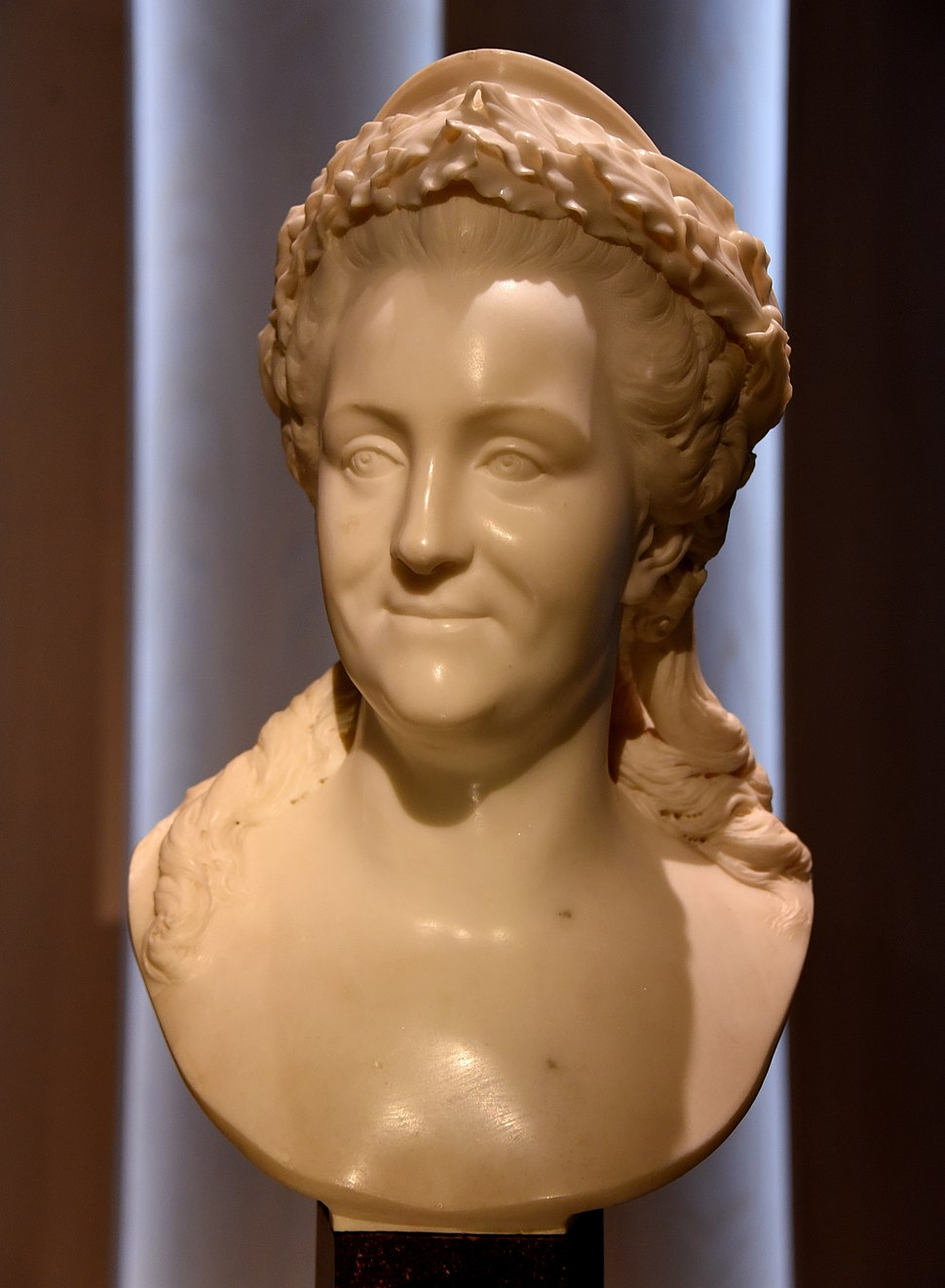 Marble bust of Catherine the Great, 1771 CE. From Rome, Italy. By Fedot Shubin, commissioned by Ivan Shuvalov for Catherine the Great. The Victoria and Albert Museum, London