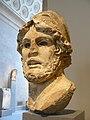 Marble head of a Greek General Roman Imperial Period 1st-2nd century CE copy of 4th century BCE Greek original (1) (1485666165).jpg