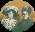 Maria Cristina de Arriaga de Barros e Lucrécia de Arriaga - Illustração Portuguesa (14 Oct 1912).png