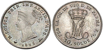 History of coins in Italy - Half Parman lira