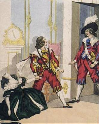 Maria di Rohan - Eugenia Tadolini, Giorgio Ronconi and Carlo Guasco in the final scene of Maria di Rohan at the Vienna premiere