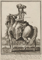 Marie Anne, Légitimée de France, Princess of Conti on horseback by Robert Bonnart.png
