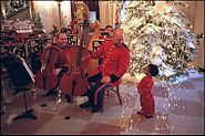 Marine Band in the Cross Hall during the 2001 holiday season