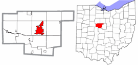 Marion County Ohio City of Marion highlighted.png