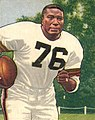 Marion Motley, American football fullback, on a 1950 football card.jpg
