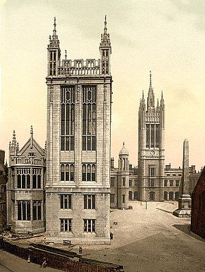 University of Aberdeen - Marischal College with the new front under construction; circa 1900