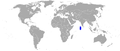 Marleyella maldivensis distribution map.png