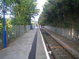 Marlow railway station - View west, towards the buffer stops