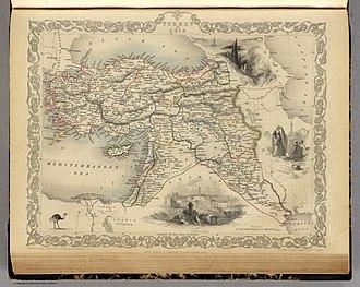Ottoman Syria - Image: Martin, R.M.; Tallis, J. & F. Turkey in Asia. 1851