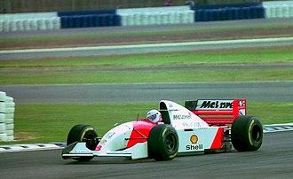 McLaren MP4/9 - Image: Martin Brundle Mclaren MP4 9 at the 1994 British Grand Prix (32418587701)