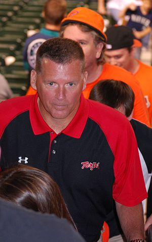 Randy Edsall - Edsall at an Orioles' game at Camden Yards in May 2011