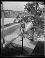 Maryland youth breaks pole sitting record. William Ruppert, 14-year-old youth of Colgate, Maryland, as he appeared atop the flag pole in the yard of his home yesterday after breaking the LCCN2016889434.jpg
