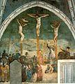 Masolino and Masaccio. Crucifixion, fresco 1428-30. San Clemente, Rome.jpg