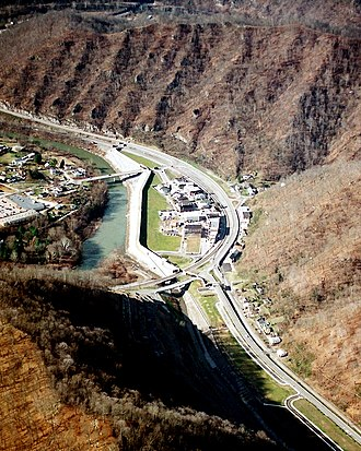 Matewan, West Virginia - Aerial view of Matewan