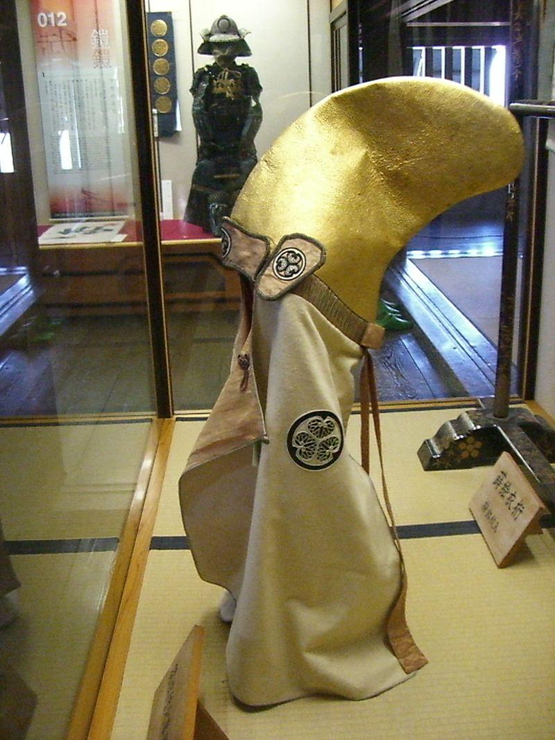 三つ葵の紋付きの松山城天守内展示物
