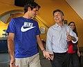 Mauricio Macri con Federer en la Bombonera (8284664763).jpg