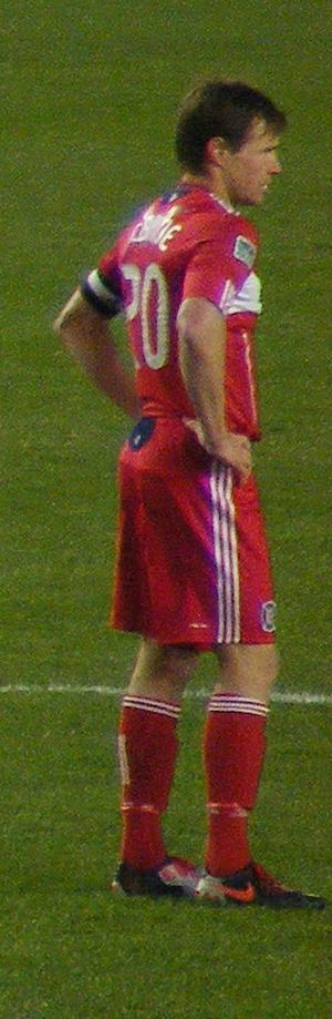 Brian McBride - McBride playing for Chicago in 2010