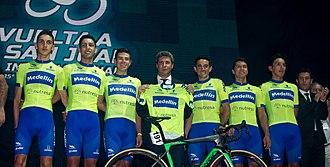 Medellín (cycling team) - Members of the Medellín–Inder team at the 2017 Vuelta a San Juan.