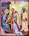 Medio reno o westfalia, altare del medio reno, 1410 ca., recto 05 adorazione dei magi.jpg