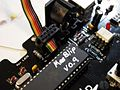 MeeBlip up close - 9 - MeeBlip running an earlier prototype firmware, as indicated in silver marker.jpg