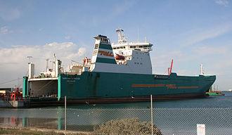 Port of Melbourne - Roll-on/roll-off ship at Webb Dock