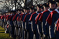 Members of the Virginia Military Institute honor guard and band wait for the presidential inauguration parade in Washington, D.C 130121-A-SV709-300.jpg