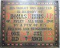 Memorial to Thomas Binns in Ripon Cathedral.JPG