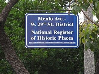 Menlo Avenue–West Twenty-ninth Street Historic District - Image: Menlo Avenue District