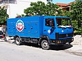 Mercedes 814 Ice cooling truck in Nydri, pic1.JPG