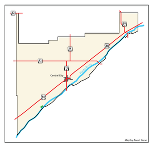 Merrick County, Nebraska - A map of Merrick County, Nebraska