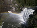 A photo of Upper Mesa Falls.
