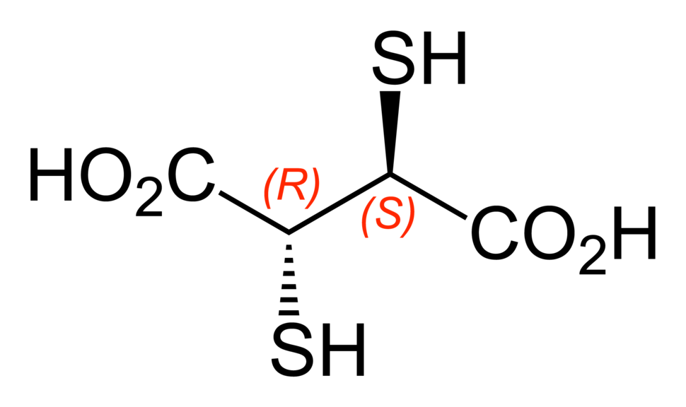 Meso-2,3-dimercaptosuccinic-acid-2D-skeletal-A-configurations-labelled